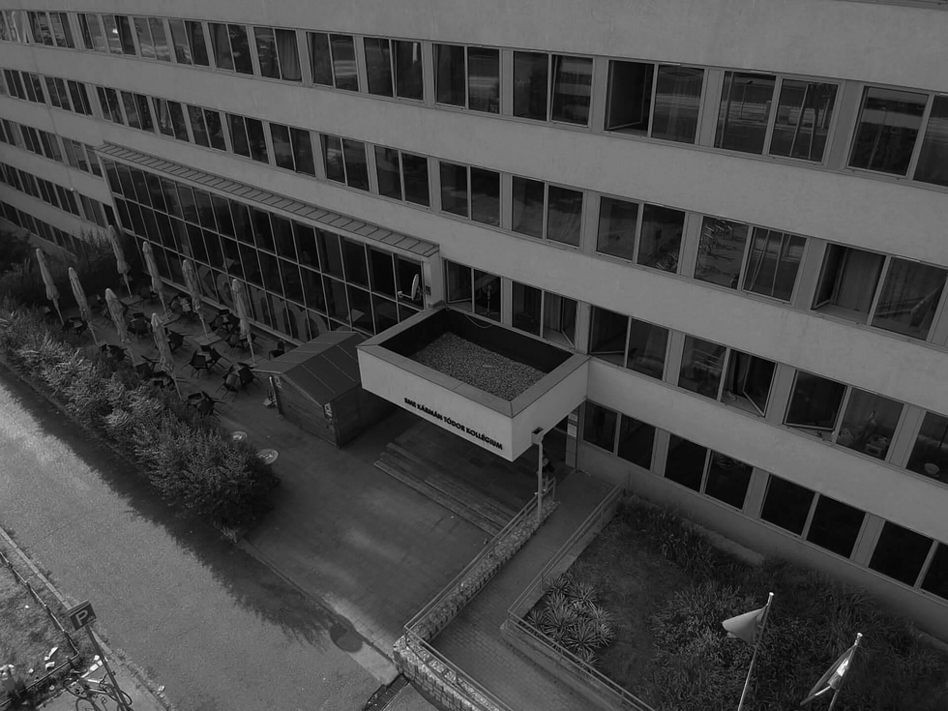 Bird's eye view of the Theodore von Karman dormitory